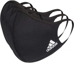 adidas Face Cover Large, Black (Pack of 3) - Dubaisavers