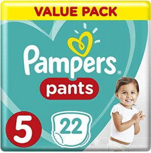 Pampers Pants Diapers, Size 5, Junior, 12-18 kg, Carry Pack, 22 Count - Dubaisavers