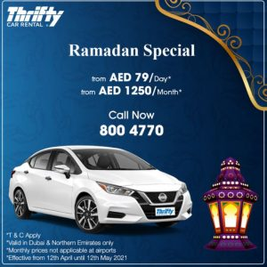 Thrifty Car Rental Ramadan Offer - Dubaisavers